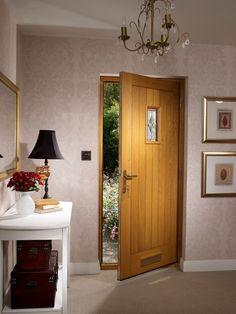 Chancery Onyx External Oak Door with Brass Caming (unfinished) #externaldoors