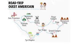 Road-Trip dans l Ouest Am ricain Carte Road-Trip Road Trip Usa, East Coast Road Trip, Road Trip Canada, Usa Roadtrip, Usa Trip, Travel Maps, New Travel, Travel Usa, Travel Couple Quotes