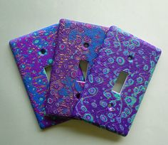 Evening Sky Switchplate Covers in Purple Blue by MysticDreamerArt, $20.00