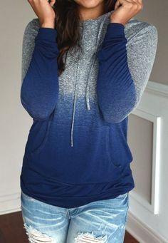 blue gradient ramp hoodie