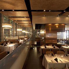Interior Design of Flame a fine dining restaurant in Shanghai. RED Design Shanghai and Bangkok Bar Interior Design, Restaurant Interior Design, Thai Restaurant, Restaurant Ideas, Red Design, Light Design, Design Consultant, Fine Dining, Ceilings