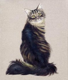 Cat portraits. Watching my back - Stephanie Manchipp