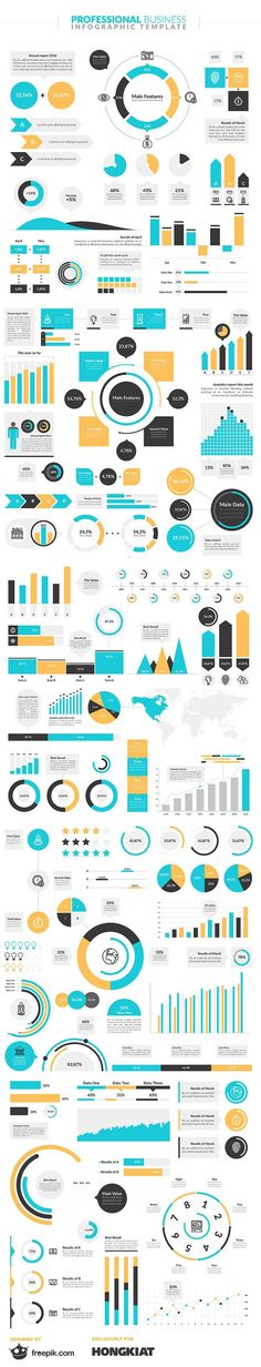 Free Infographic Elements Pack From Freepik templates - free graph template