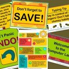 COMPUTER LAB POSTERS--This pack contains 6 fun posters to brighten up your computer lab!Computer Lab Posters by Christina R. Gill-Lindsey is licensed under a Creativ. Computer Lab Posters, Computer Lab Decor, Computer Lab Lessons, Computer Teacher, Computer Class, Computer Bulletin Boards, Learn To Type, Teaching Plan, Teaching Ideas
