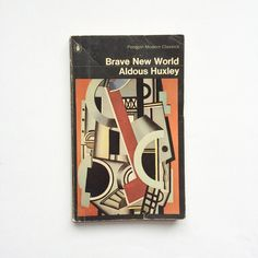 Vintage Penguin paperback book Aldous Huxley Brave New World by GalabeerandtheDog