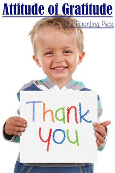 The Parenting Piece: Attitude of Gratitude