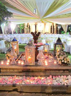 Wedding decor we arranged at a recent wedding at Tamarind Tree in Bangalore…