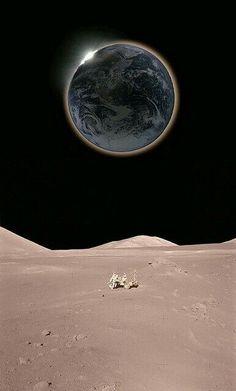 Aydan dunyanin gorunuşu