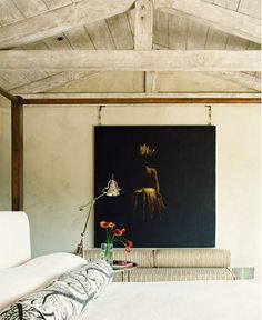 Maybe a dark painting as the focus for a wall DominiqueVorillon - desire to inspire - desiretoinspire.net