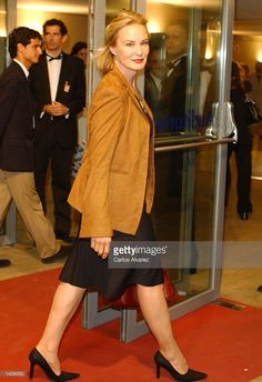 American actress Jessica Lange arrives at the Kursaal Palace during the 50th San Sebastian Film Festival September 23, 2002 in San Sebastian, Spain.