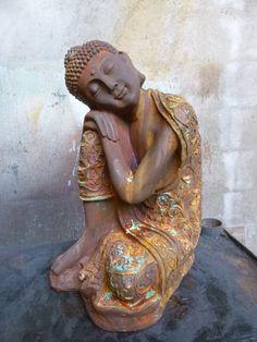 Peaceful Resting Buddha Garden Statue