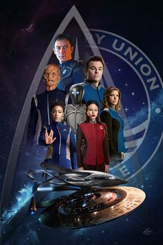 Star Trek Discovery meets The Orville. Watch Star Trek, Star Trek Tos, Star Wars, Deep Space Nine, Uss Discovery, Timeless Series, Seth Macfarlane, Star Trek Characters, Star Trek Beyond