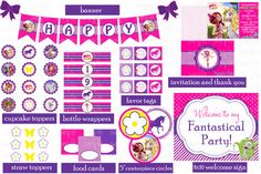 MIA AND ME - PARTY PACK! - Mia and Me inspired - Printable, by JustAddFrosting, $14.00