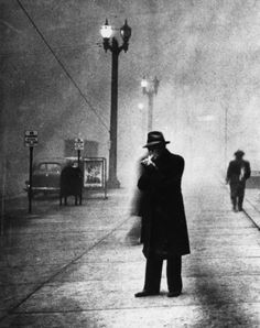 Man Lights Cigarette in Daylight - Black Tuesday, 1929