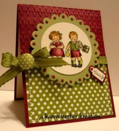 CC390- DREAMING OF TWINS..... by Karen B Barber - Cards and Paper Crafts at Splitcoaststampers