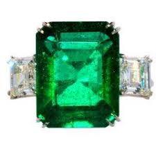 Image result for vintage art deco 13ct emerald ring