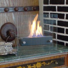 Nu-Flame Irradia Noir Tempered Glass Tabletop Bio-fireplace - Overstock™ Shopping - Great Deals on Nu-Flame Indoor Fireplaces