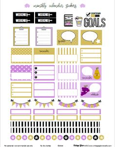 Free September Monthly Planner Stickers | Vintage Glam Studio