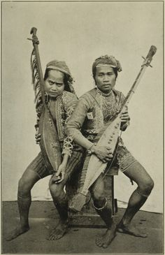 Bagobos with musical instruments, Philippines cc1900