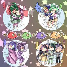 Yuya, Yuzu, Yugo, Rin, Serena, Yuri, Ruri, Shun and Yuto
