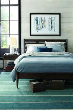 Bedroom Boards Collection barnes smoke brown queen bed | scandinavian, brown and bedrooms