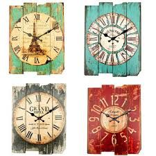 Cheap craft brad, Buy Quality crafted gifts directly from China craft trunk Suppliers: Item Description: Features: This vintage wall clock is a good decoration for home, office, coffeeshop, bar Shabby Chic Wall Clock, Rustic Wall Clocks, Rustic Walls, Barn Board Projects, Clock Printable, Retro Vintage, Red Clock, Clock Craft, Cool Clocks