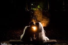 Campfire wedding picture, perfection.