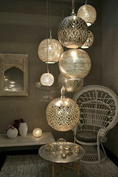 Inspirations for interior decoration at Maison & Objet Paris ., Inspirations for interior decoration at Maison & Objet Paris Morrocan Decor, Moroccan Bedroom, Moroccan Lanterns, Moroccan Interiors, Moroccan Lighting, Modern Interiors, Chinese Lanterns, Outdoor Stairs, Asian Home Decor