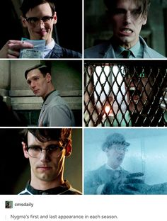 Of course I knew that he was the Riddler, but he used to be such a cinnamon roll :'( Riddler Gotham, Gotham Villains, The Riddler, Gotham Tv Series, Gotham Cast, Im Batman, Lego Batman, Edward Nygma Gotham, Jerome Gotham