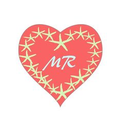 Coral Pink starfish design. Customize monograms Stickers