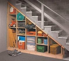 Maximize that tricky under-the-stairs storage spot with these tips. 5 Basement U. Maximize that tricky under-the-stairs storage spot with these tips. 5 Basement Under Stairs Storage