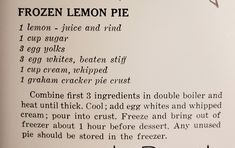Lemon Dessert Recipes, Graham Crackers, 3 Ingredients, Whipped Cream