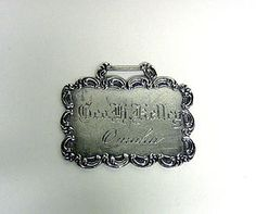Sterling Silver Luggage Tag
