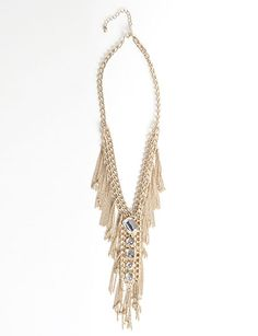 Gold Chain Tie Necklace, flirtcatalog.com