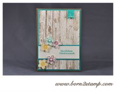6. Februar 2014 born2stamp: STAMPIN' UP! Valentinskarte mit Hardwood und Banner Blast, Petite Petals