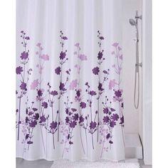 Sabichi Luxury Shower Curtain Clara 100% Polyester Purple Lilac Floral Design #Sabichi #Modern