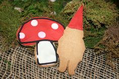 toadstool and gnome cookies