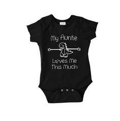 85796b601b3 My Auntie Loves Me This Much funny cute baby by youngandstyling Lesbian  Moms