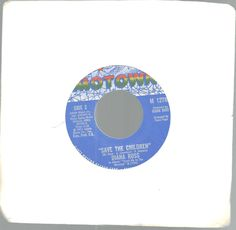 Diana Ross Motown Records Save The Children Last Time Saw Him 45 RPM 1973  #1970s