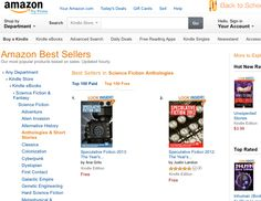 That time when we took over the #1 and #2 spots with SPECULATIVE FICTION.