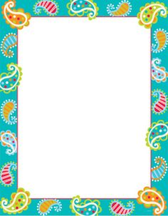 Dots on Turquoise Paisley Poster Chart