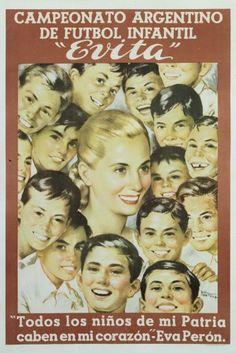 Evita (artist: Manteola) Argentina - Vintage Advertisement (Art Print Available) Unique Vintage, Vintage Designs, President Of Argentina, Surf Movies, Grey Art, Type Posters, Metal Art, Giclee Print, Saving Money