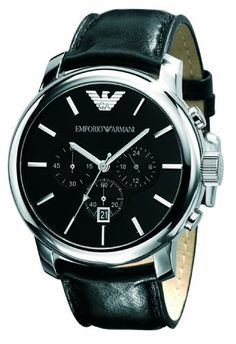Emporio Armani Herren-Armbanduhr XL Analog Quarz Leder AR0431 - http://on-line-kaufen.de/emporio-armani-2/emporio-armani-herren-armbanduhr-xl-analog-quarz