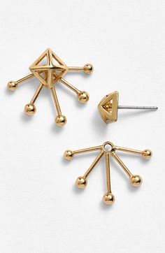 Rebecca Minkoff 'Pearl Stud' Cutout Fan Stud Earrings available at #Nordstrom