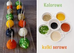 Kolorowe kulki serowe Brunch Recipes, Appetizer Recipes, Snack Recipes, Cooking Recipes, Party Trays, Party Snacks, Finger Food Appetizers, Food Platters, Get The Party Started