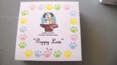 Customized box for the fundraiser soaps called Puppy Love, that generates funds for our local Humane Association.