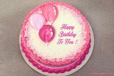 Write Names On Birthday Cake With Balloons – Lace Wedding Cake Ideas Balloon Birthday Cakes, Birthday Sheet Cakes, Balloon Cake, Birthday Cake Decorating, Cake Decorating Tips, Cookie Decorating, Birthday Cake Designs, Buttercream Cake Designs, Cake Icing
