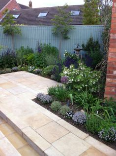 Blue Grey Farrow And Ball Paint Planting Design By Karen Gimson Landscaping