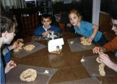 LOTS OF GREAT ACTIVITIES TO DO AT HOME. Separated by age. Having Fun at Home: Rice Crispie Creations