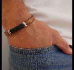 Brazaletes - pulsera de cuero de los hombres - hecho a mano por galisjd en DaWanda